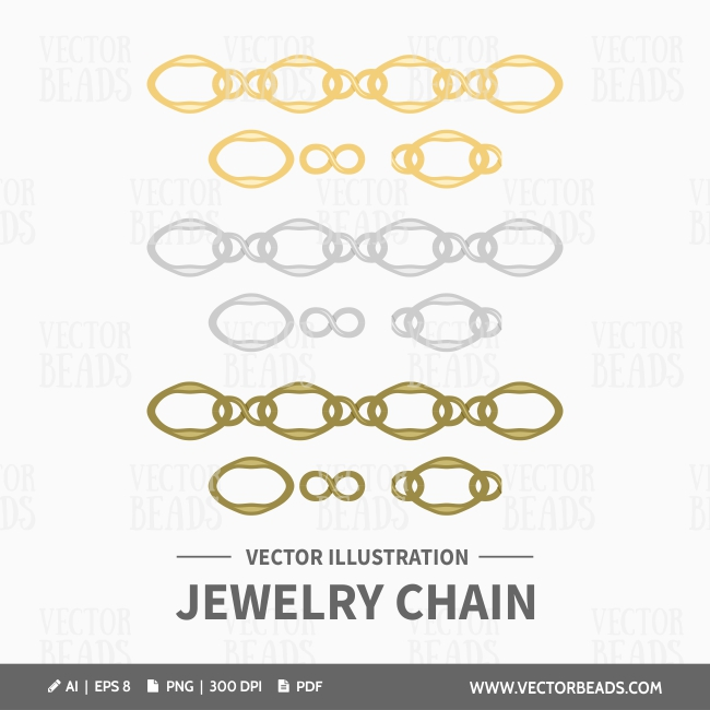 Vector jewellery chains