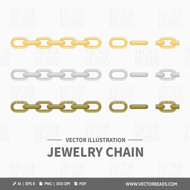 Jewelry making chains vector clip art