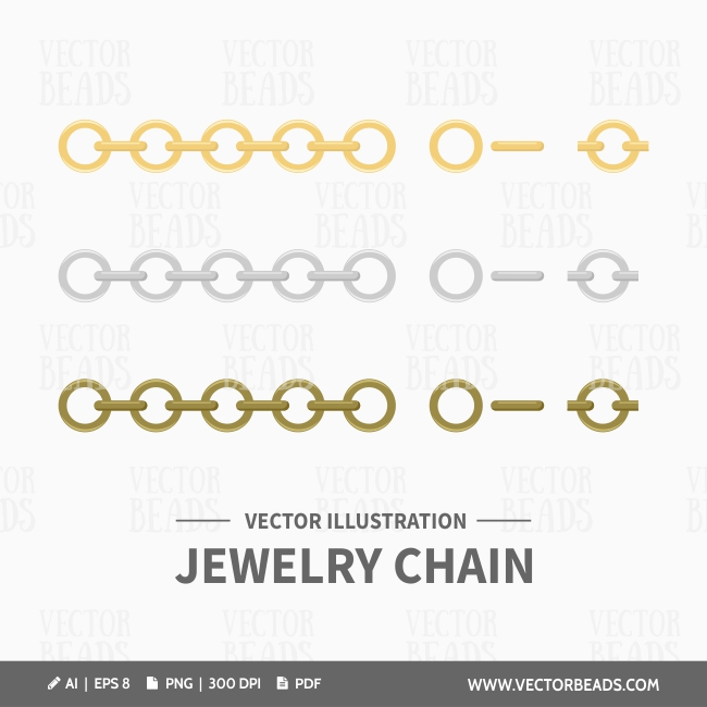 Vector jewelry making chains