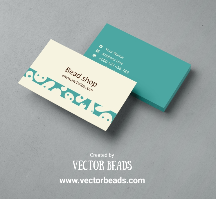 Business Card Template For Bead Sellers Free Download