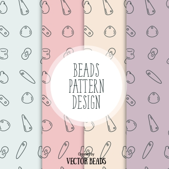 Beads seamless pattern design