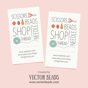 Free business card design for beaders