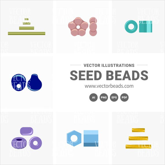 Seed beads vector graphics