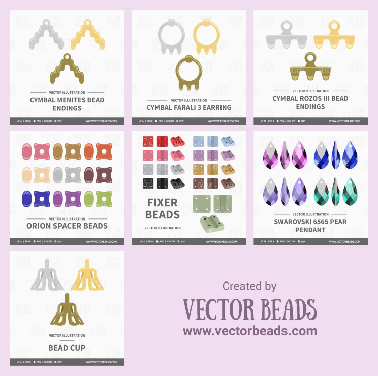 Beading vector graphic